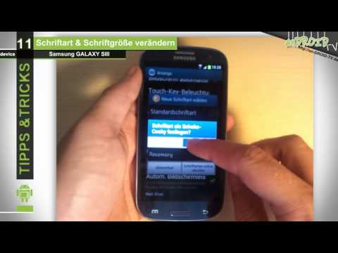 Samsung GALAXY S3 - Tipps & Tricks [11] Font Art & Größe ändern - anDROID TV
