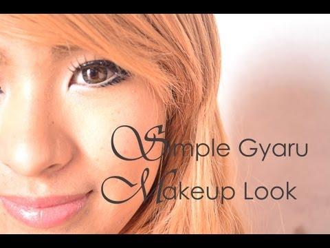 Simple Gyaru Makeup Look
