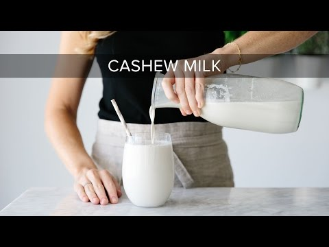 HOW TO MAKE CASHEW MILK | dairy-free, vegan nut milk