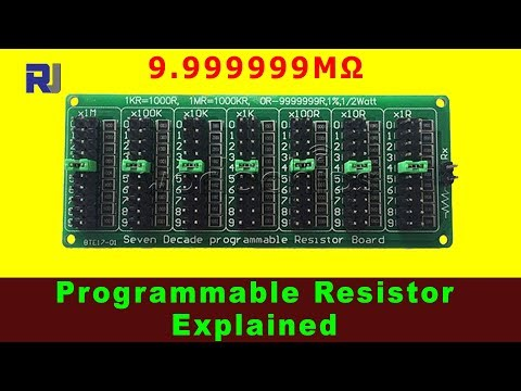 Programmable Resistor 9.999999MΩ Explained with Schematic