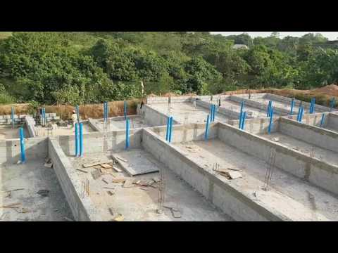 Making of the  Concrete Fish ponds