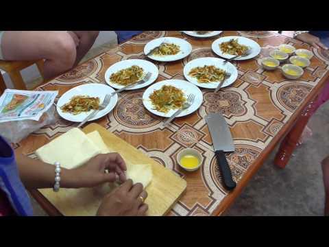 Making Thai Spring Rolls 2-17-2014