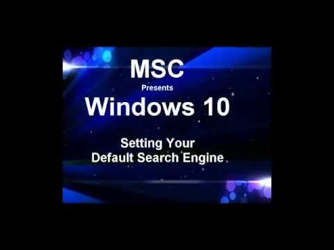 Setting search engine  for windows 10