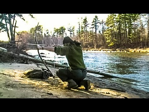 Making a Survival Bow String from Bankline