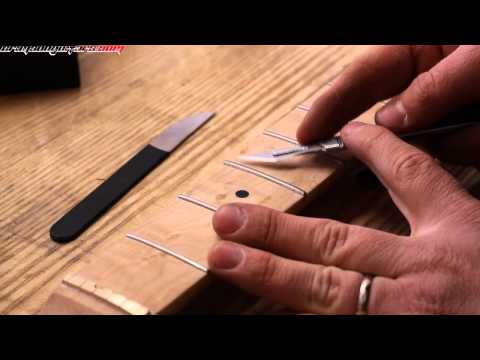 How to remove lacquer from frets when lacquering a maple fretboard
