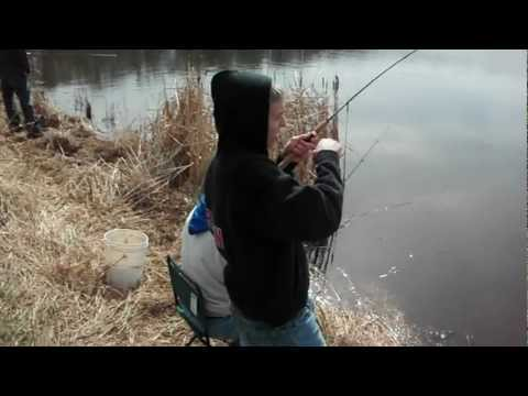 Early spring bluegill fishing