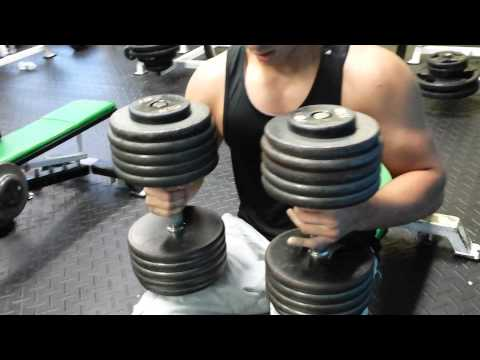 16 Year Old 100 lbs Dumbbell Press