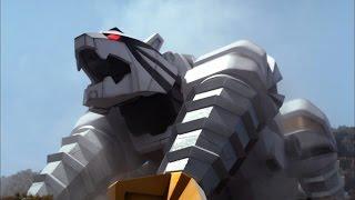 Tiger Zord and Tiger Drill Megazord Debut Fight | Power Rangers Samurai