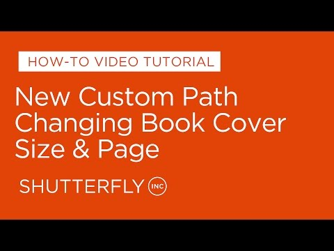New Custom Path: Changing Book Cover, Size & Page