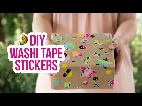 How to Craft Duck Washi® Tape Stickers