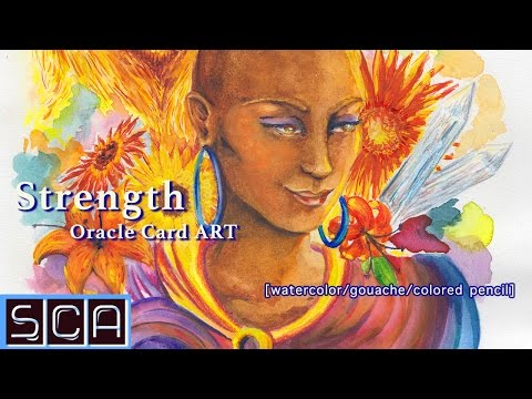 Ayanna Oracle Card Painting - Watercolor/Colored Pencil/Gouache