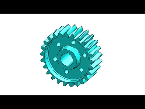 CREO TUTORIAL #2 || Design a gear in creo parametric.