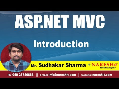 asp.net MVC Introduction | asp.net MVC Tutorials | By Mr.Sudhakar Sharma