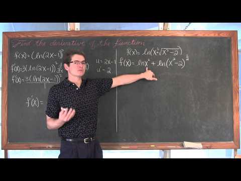 Derivative of Natural Logarithm Functions