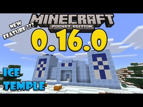 ICE TEMPLE in Minecraft PE (New Feature???) - Ice Temple and Ice Village Map