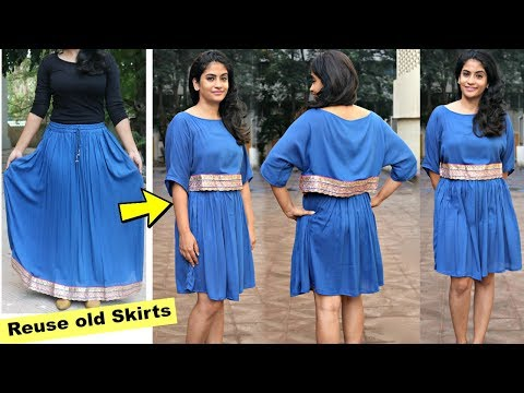 Convert Old Long Skirt into a Cape Dress or a Poncho Dress | Slick and Natty