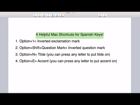 4 Helpful Spanish Keyboard Shortcuts for English Mac Users
