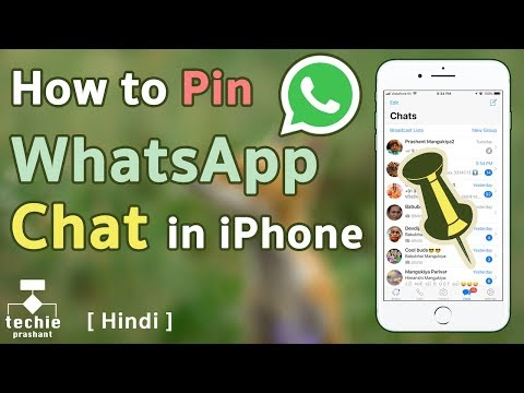 How to Pin WhatsApp Chat at Top on iPhone and Android. HINDI