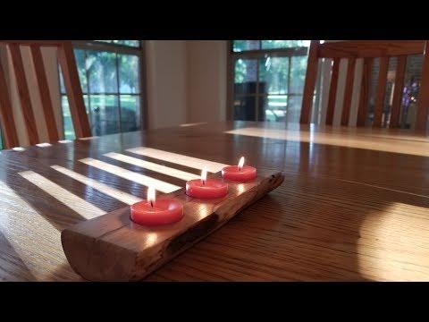 Making a Log Candle Holder