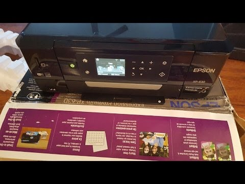 Unboxing Epson XP-630 Wireless Color Photo Printer with Scanner & Copier C11CE79201