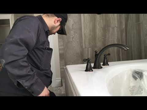 Installing Roman-style deck mount faucet trim
