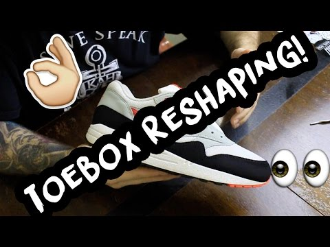 How To Reshape an Air Max 1 Toebox in Under 10 Minutes | xChaseMaccini