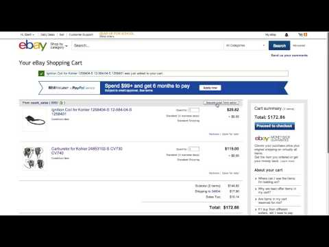 Ozark Sales Ebay Combined Shipping Invoice Request