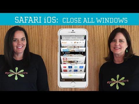 Safari iOS  - Close All Windows