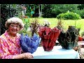 Portland Cement Red Sand Draped Flower Pots In Ga. U.S.A.
