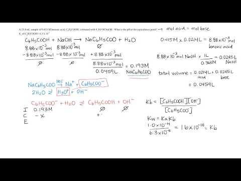 pH at Equivalence Point