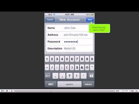 How to setup an IMAP email account on your iPhone