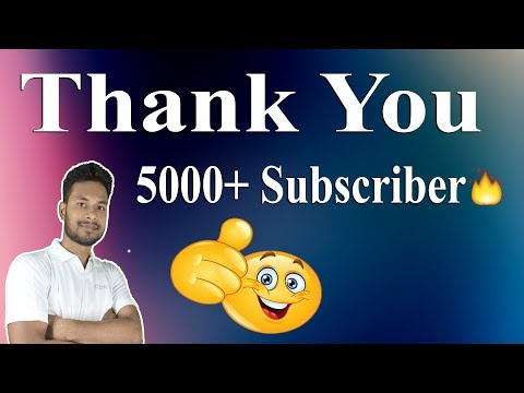 5000 Subscriber Special || THANK YOU 5000+ SUBSCRIBER 🔥🔥