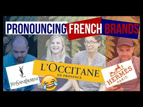 English Speakers Try to Pronounce French Brands (+ How to actually pronounce them)!