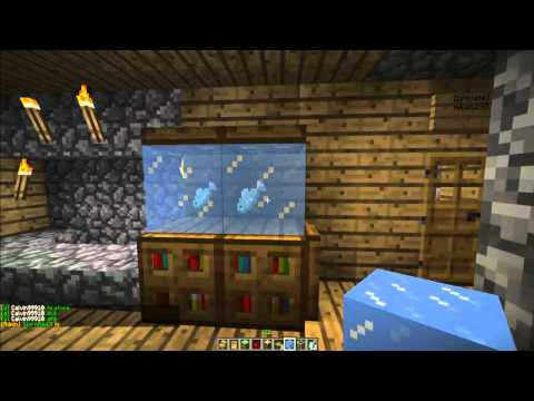 How to make a Fish Tank in Minecraft! [Minecraft Furniture Episode 4]