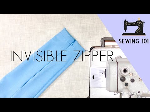 How To Sew An Invisible Zipper On Sleeve | Wudhu Zip