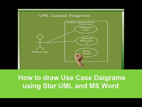 How to draw Use Case Daigrams using Star UML and MS Word