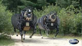 DARPA - AlphaDog Legged Squad Support System (LS3) Field Testing [720p]