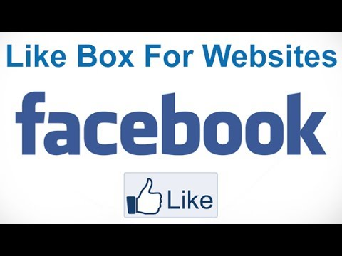 How To Create A Facebook Like Box For Websites