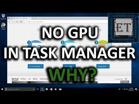 Why You Cannot See Your GPU Monitor In Task Manager | Windows 10 Fall Creators Update (2018)