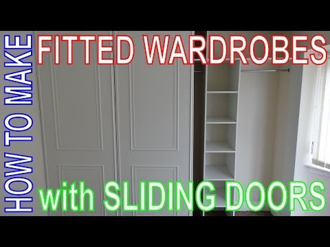 How to make Fitted Wardrobes. Easy DIY Install. Custom Build Sliding Door Wardrobe.