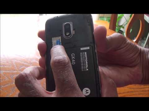 How to Insert Micro Sd Card (Memory) in Moto G4 Play Phone