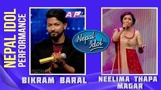 Timro Mann Ma | Nepal Idol Performance | Bikram Baral \u0026 Neelima Thapa Magar | Nepal Idol Season 2