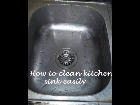 How to clean kitchen sink in hindi, Clean kitchen sink with vinegar only,