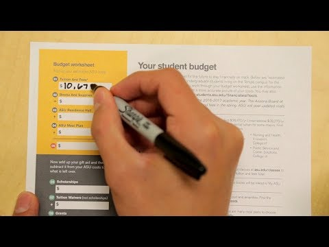 How to fill out your ASU financial aid budgeting worksheet