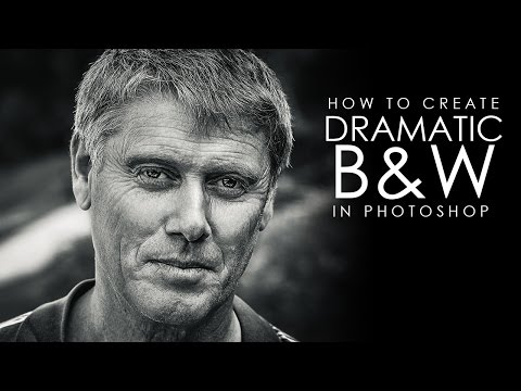 Dramatic Black and White Portrait - Photoshop Tutorial [Photoshopdesire.com]