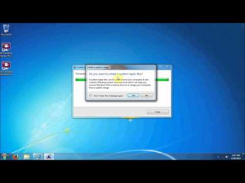 Creating a Windows 7 System Image