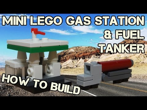 How To Build A Mini Lego Gas Station & Fuel Tanker