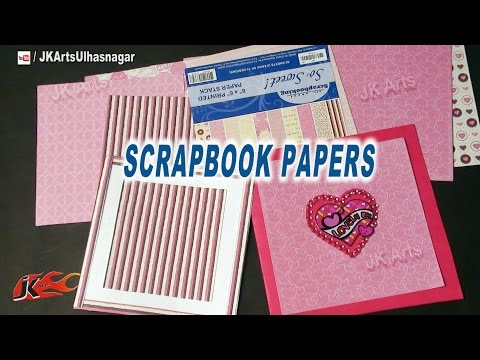 Scrapbook Papers and How to use | Art and Craft Materials Idea | JK Arts 653