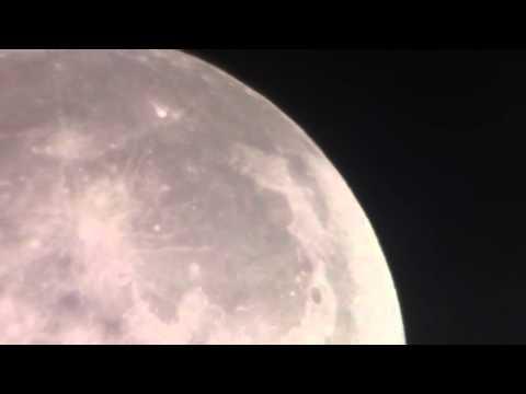Moon video taken wirh iPhone through 8 inch reflector telescope.
