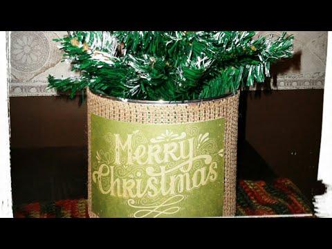 Christmas / Winter Home Decor Collab ~ Rustic Tree Display